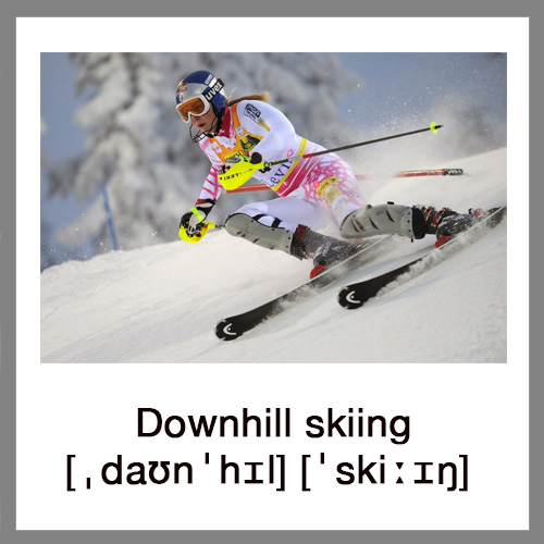 Downhill-Skiing
