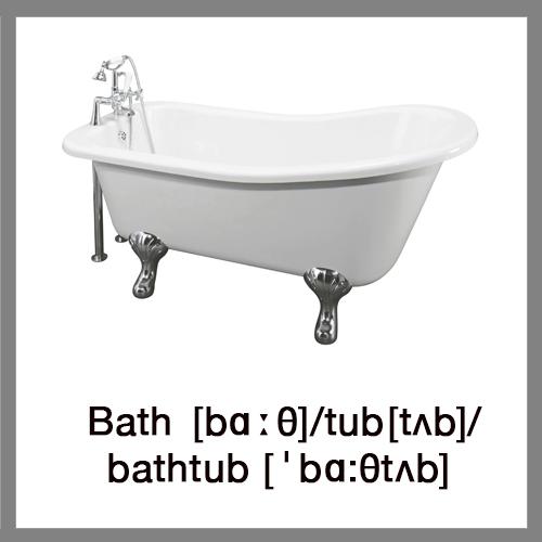 Learn english words bathroom for British word for bathroom