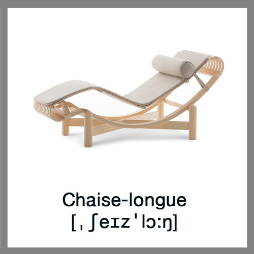 Learn english vocabulary furniture for Chaise longue in english