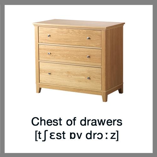 learn english vocabulary furniture. Black Bedroom Furniture Sets. Home Design Ideas