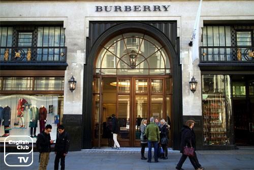 Брендовая одежда Англии  burberry