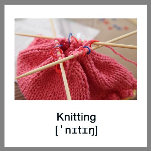 Knitting Club London : Learn english vocabulary hobby