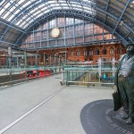 St Pancras Railway Station in London