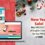 New Year Sale: all products of English Club TV for the price of one